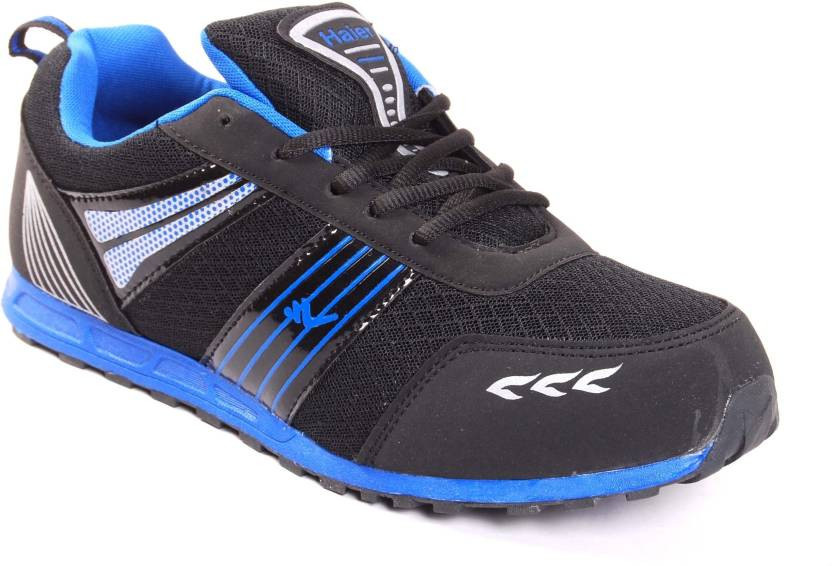 f9da61654 Haier Sports Micro Black and Blue Running Shoes For Men - Buy Black ...