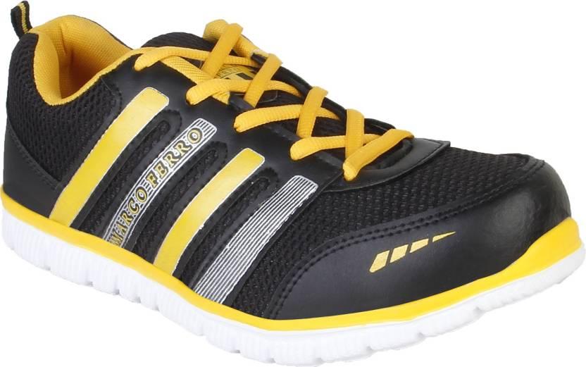 Marco Ferro Shine Classic Running Shoes For Men - Buy Black-Yellow ... 1e6299f30268