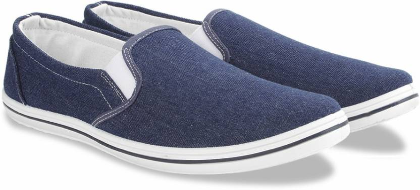 389329f0e94 Flying Machine Canvas Slip On Loafers For Men - Buy Blue-Washed ...