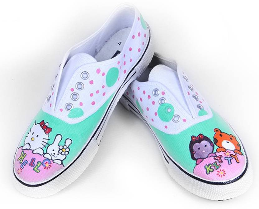 bafb6b14e F-Gali The Hello Kitty Low Top Canvas Shoes Canvas Shoes For Men  (Multicolor)