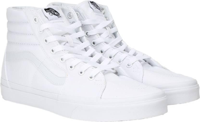 74fd676bacc3e7 Vans Sk8-Hi High Ankle Sneakers For Men - Buy White Color Vans Sk8 ...