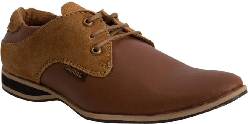 9589b5314d2a9 Lee Grain 4607 Casuals Shoes For Men - Buy Tan Color Lee Grain 4607 ...