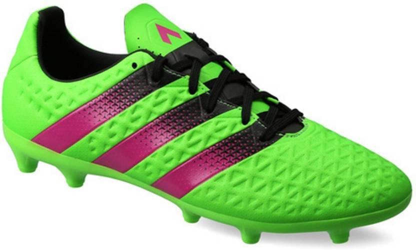 ADIDAS Ace 16.3 Fg Ag Football Shoes For Men - Buy solar green shock ... 92aa58a212