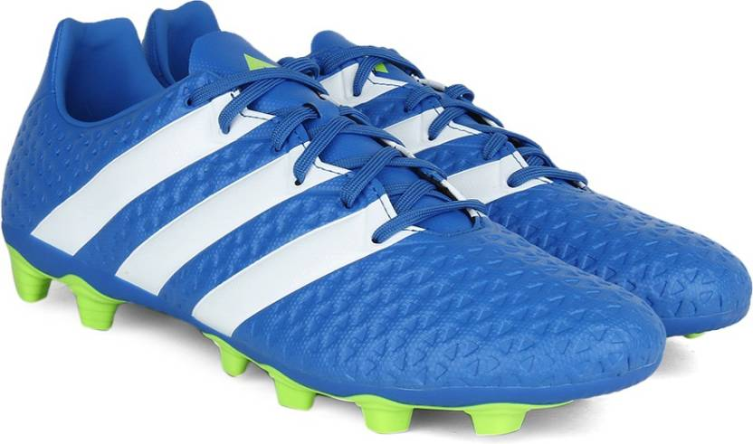 huge discount 770b6 8e94b ADIDAS ACE 16.4 FXG Football Studs For Men (Blue, Green, White)