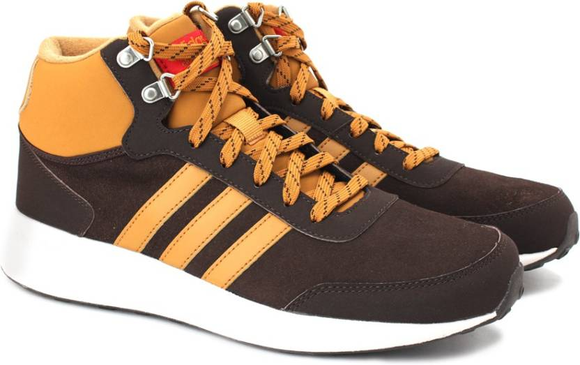 size 40 043dc 840fc ADIDAS NEO CLOUDFOAM RACE WTR MID Mid Ankle Sneakers For Men (Brown, Tan)