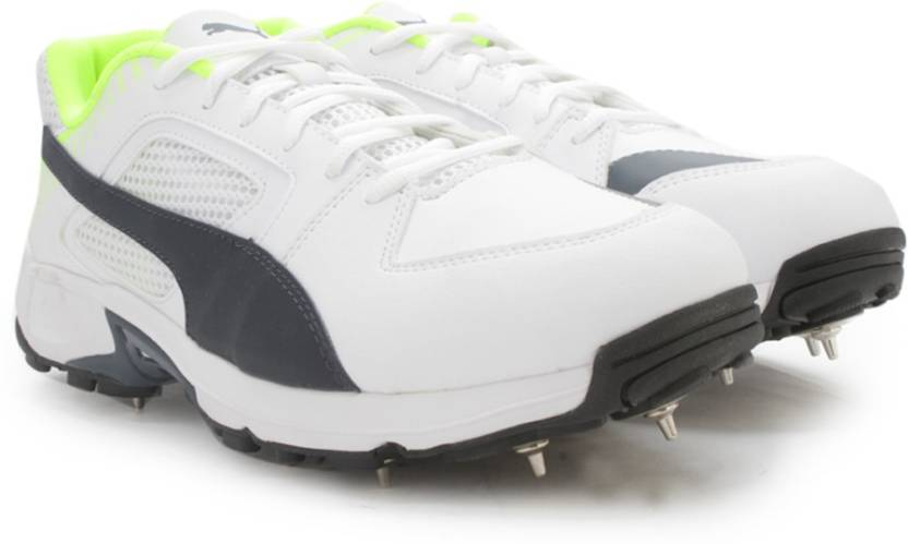 15a7f9016ecaf8 Puma Team Full Spike Cricket Shoes For Men - Buy white-new navy ...