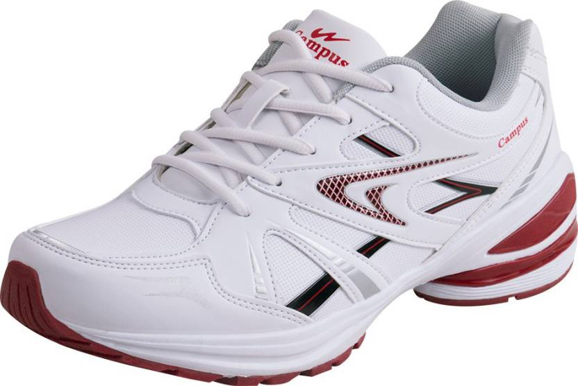 Campus MILFORD Running Shoes For Men - Buy White-Red Color Campus ... 50d9f0b93