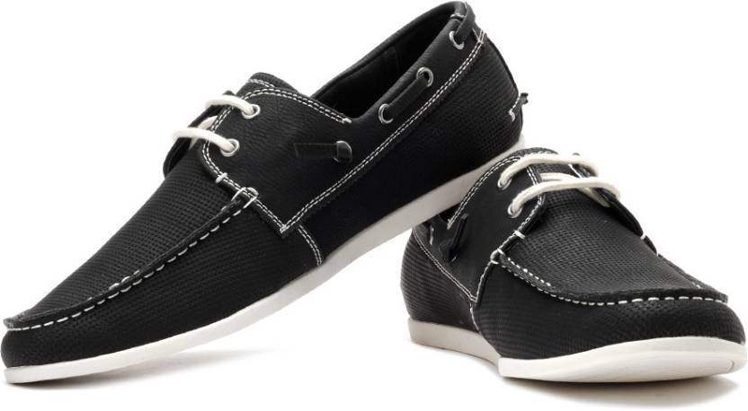 35aac45e45f Steve Madden M-Gameon Boat Shoes For Men - Buy Black Color Steve ...