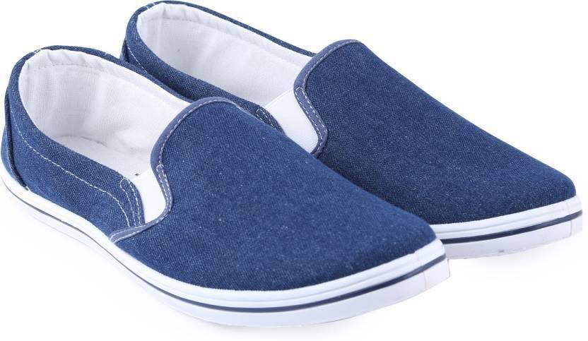 29d975108a9 Flying Machine Canvas Canvas Loafers For Men - Buy BLUE-WASHED ...