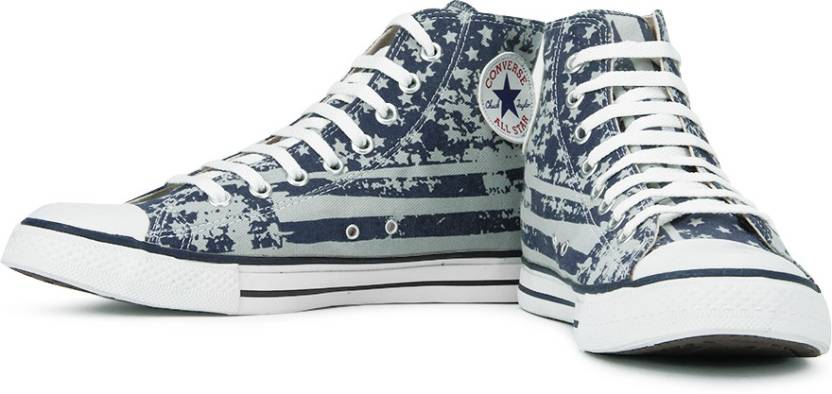 aa46bde2d1d Converse High Ankle Sneakers For Men - Buy Blue Color Converse High ...