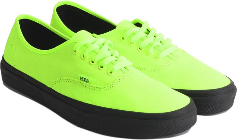 eb02db46a5e591 Vans Authentic Sneakers For Men - Buy (Black Outsole) neon green ...
