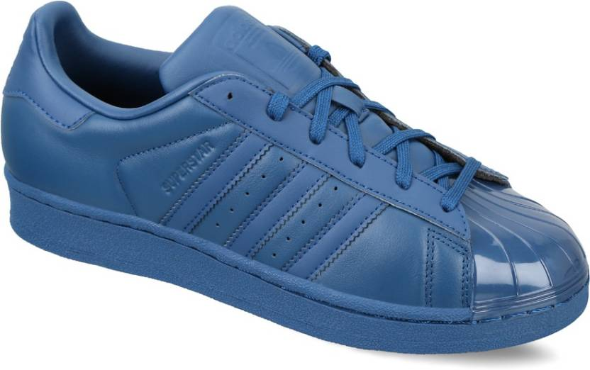 size 40 4c4a2 57436 ADIDAS ORIGINALS SUPERSTAR GLOSSY TOE W Sneakers For Women (Blue)