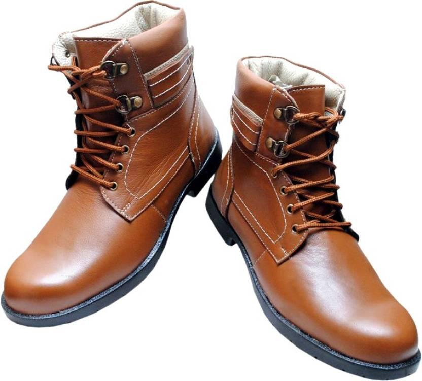 81484163d DE MODA Celerio Boots For Men - Buy Tan Color DE MODA Celerio Boots ...
