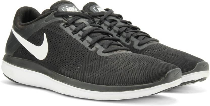 2cf8b6baa65fa Nike FLEX 2016 Running Shoes For Men - Buy BLACK WHITE-COOL GREY ...
