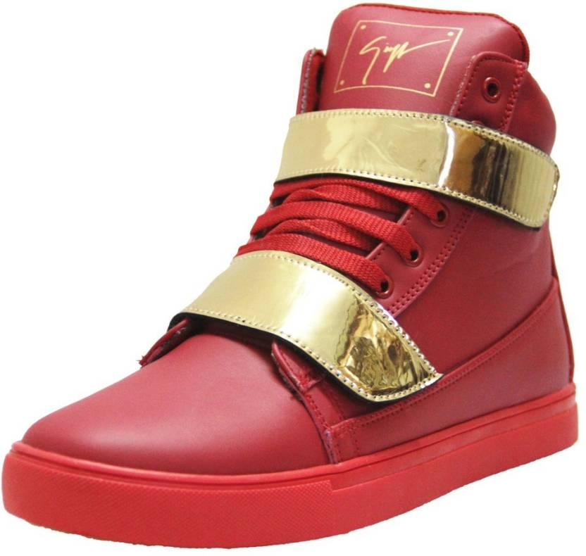 3d438cc558 West Code Men's Synthetic Leather Casual Shoes Gold-G-Red-7 Casuals For Men
