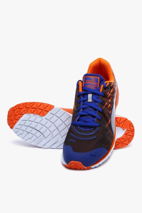 0cfc21bde053 Puma Faas 300 V4 Sodalite Blue-Vermillion Orange-Puma Silver Running Shoes  For Men (Black