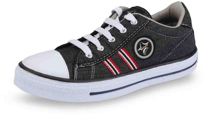 a03edae0d31f Unistar 3010 Canvas Shoes For Men - Buy Black Color Unistar 3010 ...