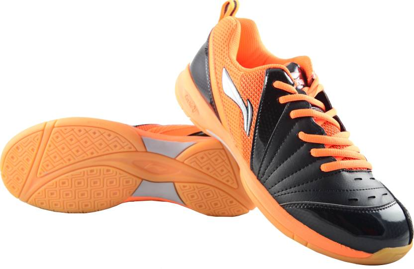 li ning raid badminton shoes for men buy black orange color li