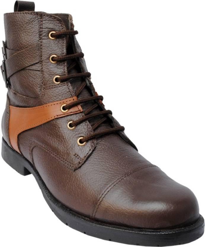 b1deca340 DE MODA SELERIO Boots For Men - Buy Brown Color DE MODA SELERIO ...