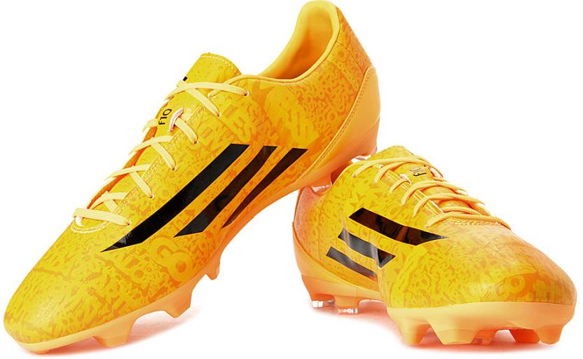 sneakers for cheap 6006e fe830 ADIDAS F10 Fg (Messi) Football Shoes For Men (Orange, Yellow)