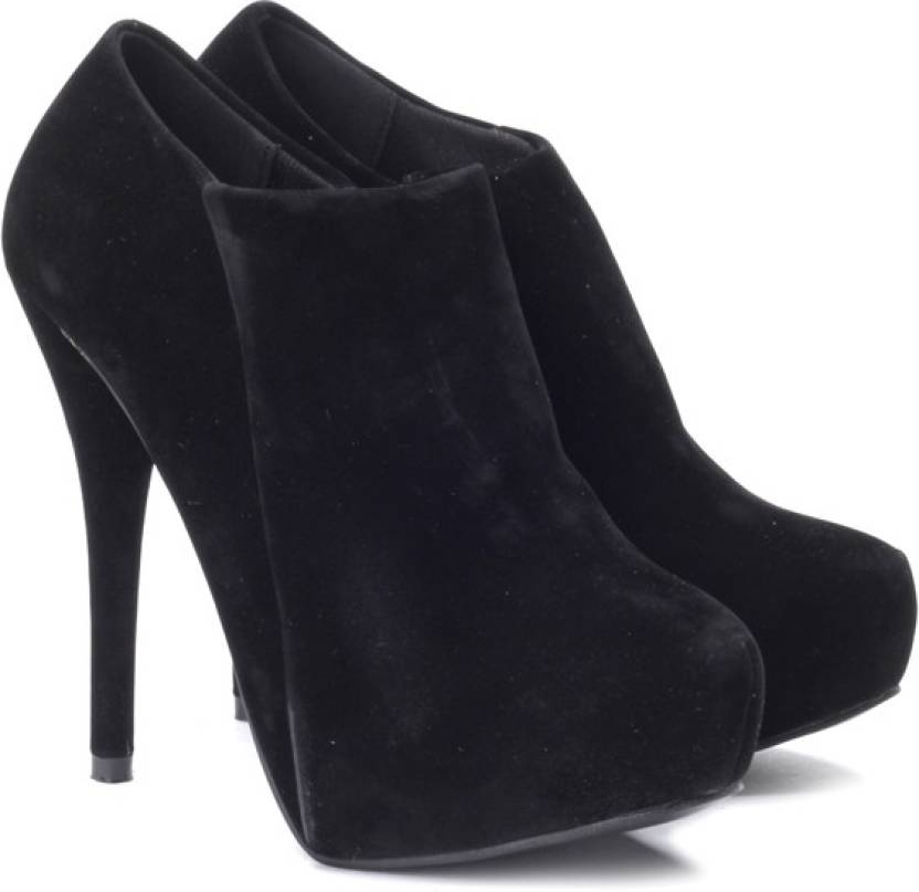 39b267fd9be3 Carlton London High Heel Low Ankle Boots For Women - Buy Black Color ...
