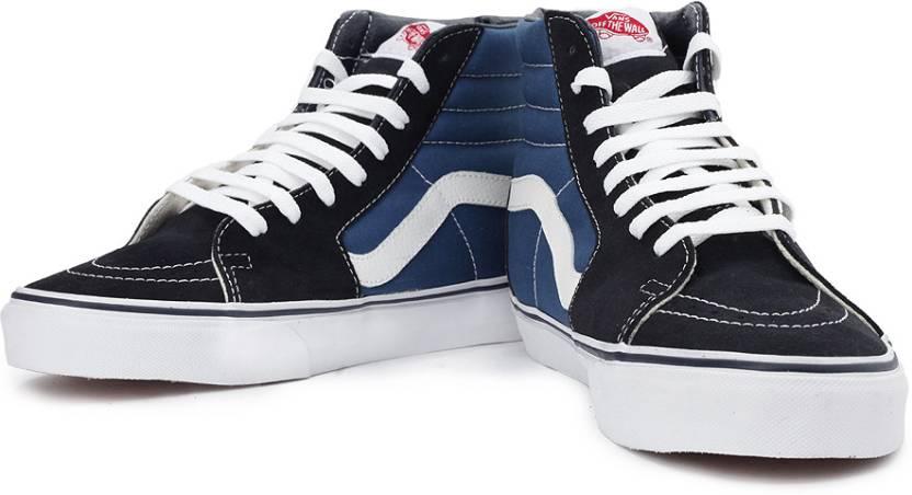 27e578149712 Vans Sk8-Hi Canvas Shoes For Men - Buy Navy Color Vans Sk8-Hi Canvas ...