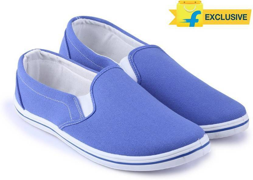 9c123c46c65 Flying Machine Canvas Canvas Loafers For Men - Buy BLUE Color Flying ...