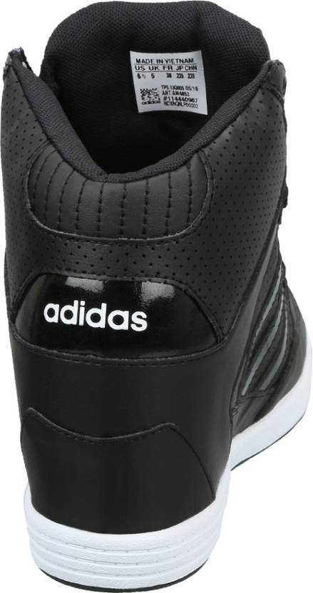 save off dd252 cf816 ADIDAS NEO SUPER WEDGE W Mid Ankle Sneakers For Women (Black)