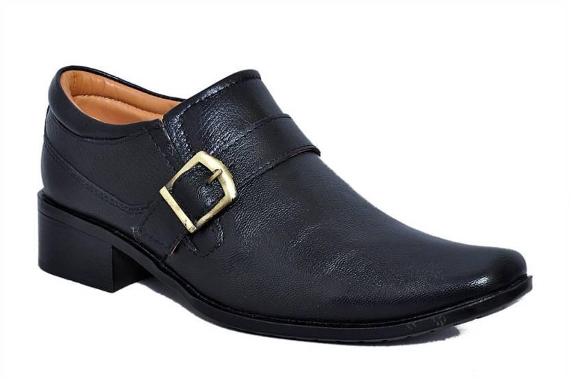 46d5ead0a6c8c9 Zoom Zoom Branded Men's Pure Leather Formal Shoes G-31-Black-9 Slip On For  Men (Black)