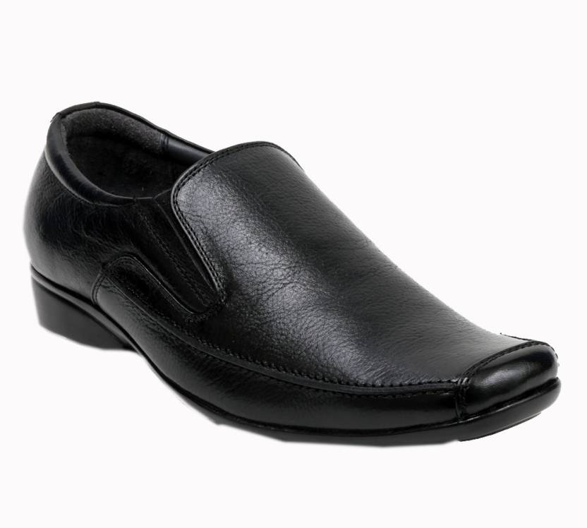 Bravo Black Slip On Shoes For Men - Buy Black Color Bravo