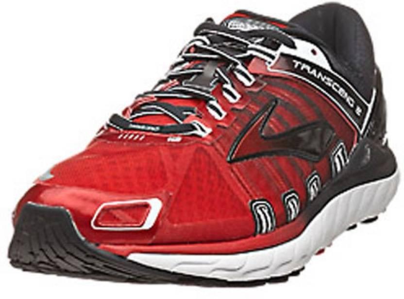 c3590a9d448 Brooks Transcend 2 Men s Running Shoes For Men - Buy Red-Black-White ...