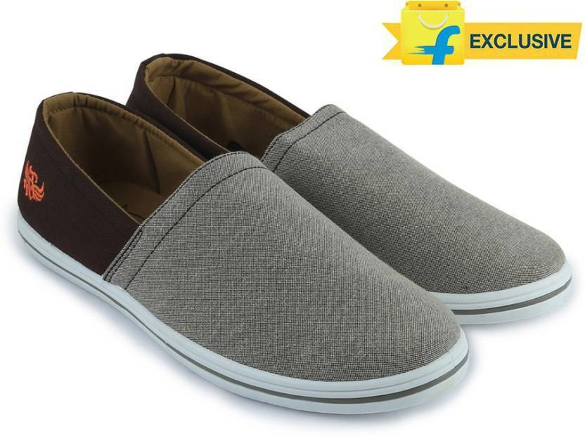 686dacb5516 Flying Machine Canvas Canvas Loafers For Men - Buy LT BROWN-DARK ...