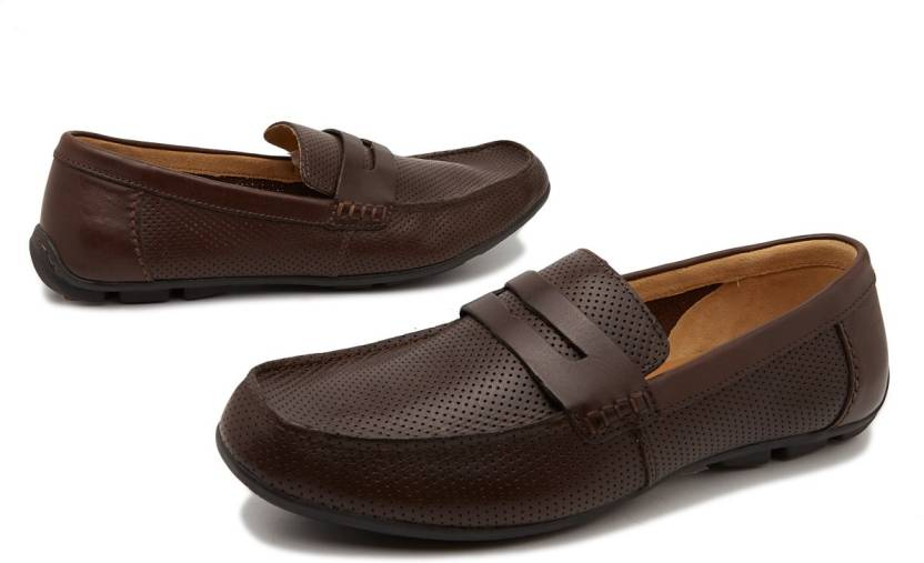 673bb66bf36 Clarks Malta Ride Penny Loafers For Men - Buy Dark Brown Color ...