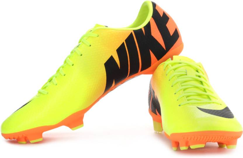 ffd19771654b Nike Mercurial Veloce Fg Football Shoes For Men (Orange, Black, Green)