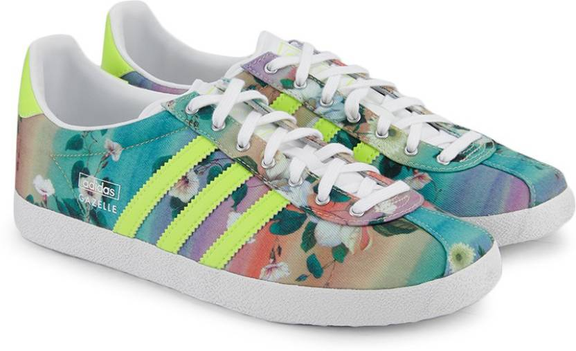 finest selection 8e397 8d85f ADIDAS ORIGINALS Gazelle Og Wc Farm W Sneakers For Women (Green, Multicolor,  Yellow)