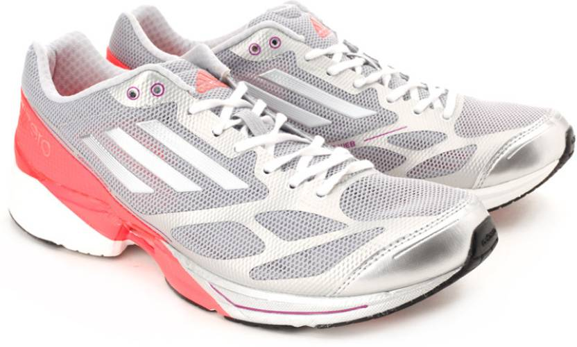 sale retailer f2048 9cea4 ADIDAS Adizero Feather 2 W Running Shoes For Women (Silver, Grey)