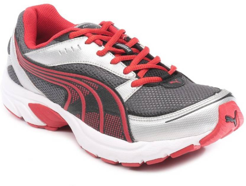Puma Axis III DP Running Shoes For Men - Buy Grey-Red-White Color ... 32f2ab7ec2