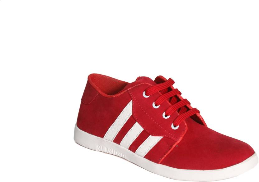 1d1ee91aa9bb Levanse Daily wear casual shoes Canvas Shoes For Men - Buy Red Color ...