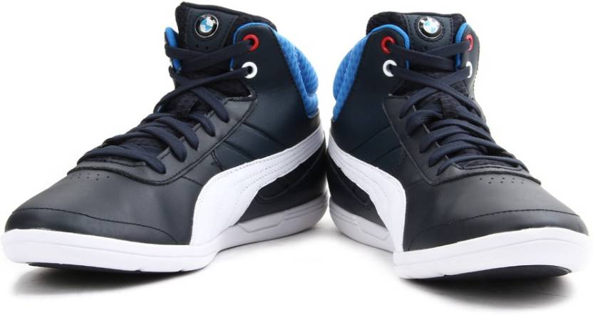 puma bmw mid ankle sneakers