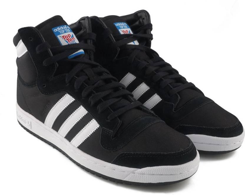 new style 0b639 a821a ADIDAS ORIGINALS TOP TEN HI Sneakers For Men (Black)