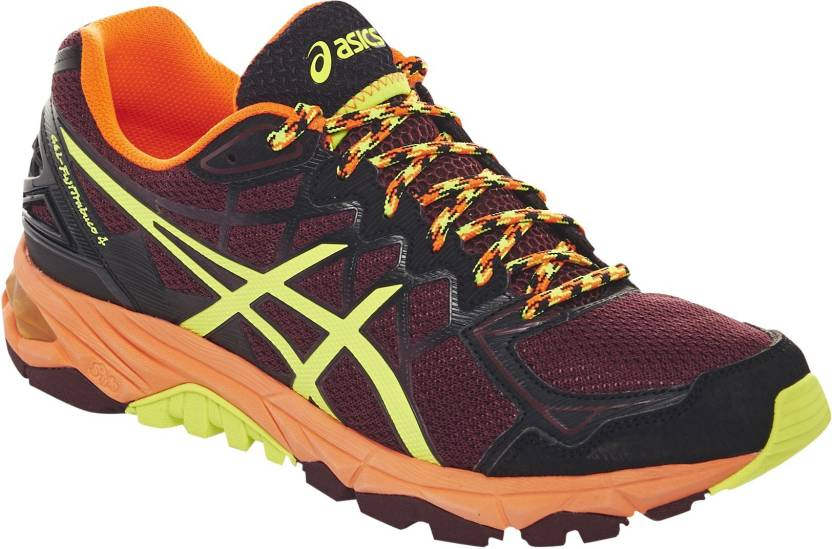 save off e29a8 632bb Asics Gel-Fujitrabuco 4 Men Running Shoes For Men (Maroon)