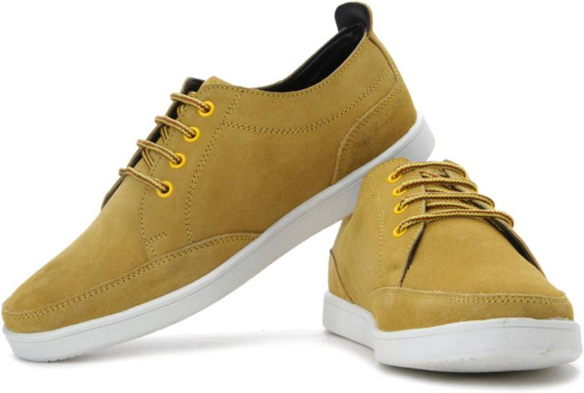 Flippd Suede Leather Low Ankle Sneakers