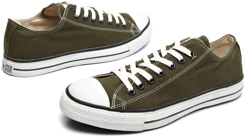 8cf4edcceae Converse Statement Canvas Lace-up Canvas Shoes For Men - Buy Olive ...