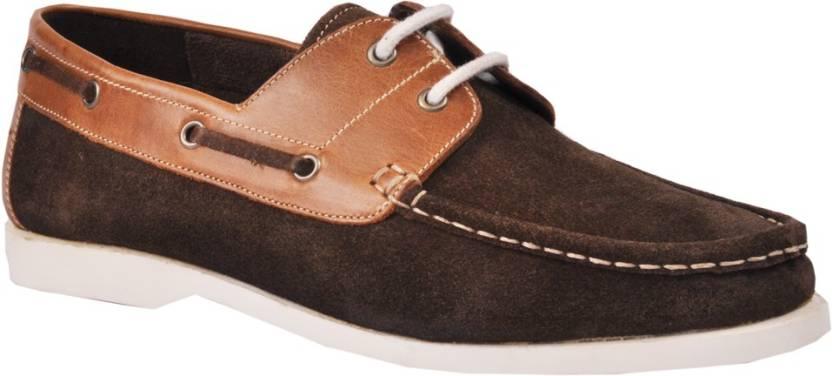 ab09d404089d Pinellii Corvus Lace Up Boat Shoes For Men - Buy Brown