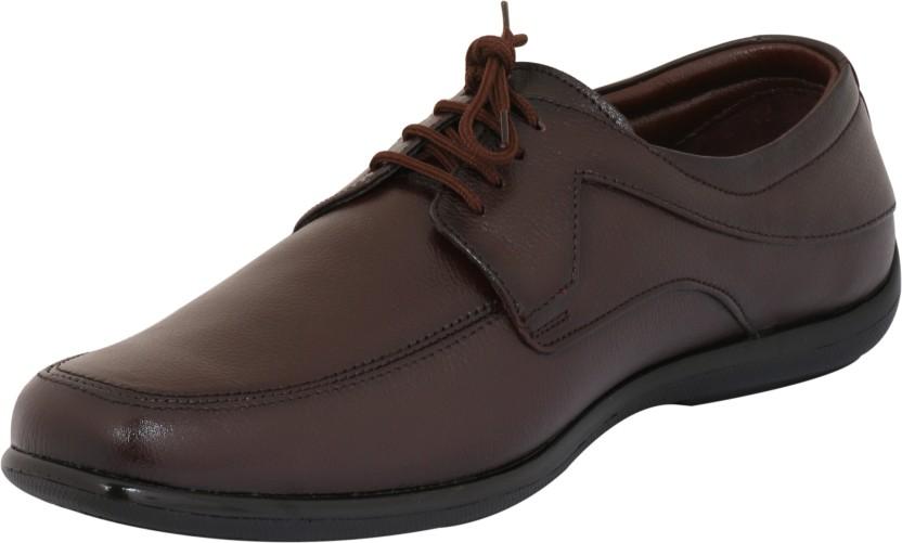 Dokmen Cherry Brown Formal shoes for Men Lace Up For Men