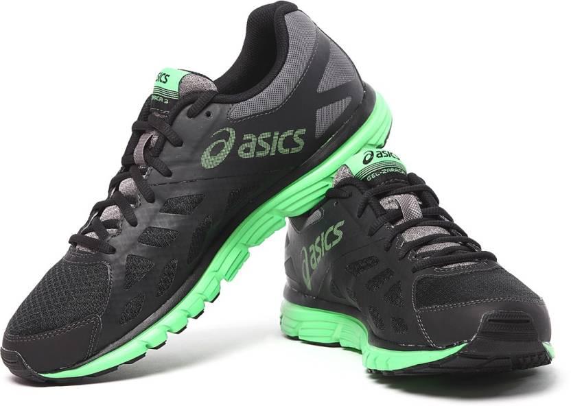 55834e41c3 Asics Gel-Zaraca 3 Men Running Shoes For Men - Buy Charcoal/Grn/Onxy ...