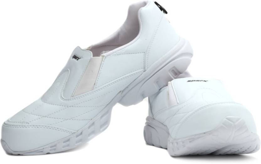 Sparx SM-080B Walking Shoes For Men(White)