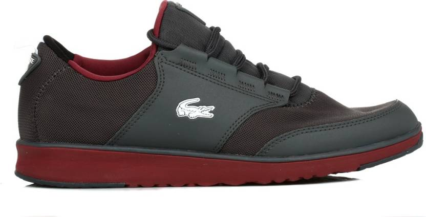 e7e3d17030b0 Lacoste Mens Dark Grey L.IGHT TRF5 Trainers Casual Shoes For Men ...