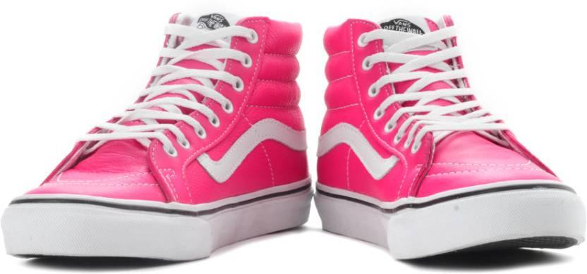 3ab87771289 Vans Sk8-Hi Slim Sneakers For Men - Buy (Neon Leather) Pink Color ...