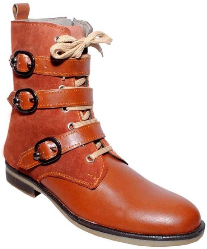 fa03706dd DE MODA Ducus Boots For Men - Buy Tan Color DE MODA Ducus Boots For ...